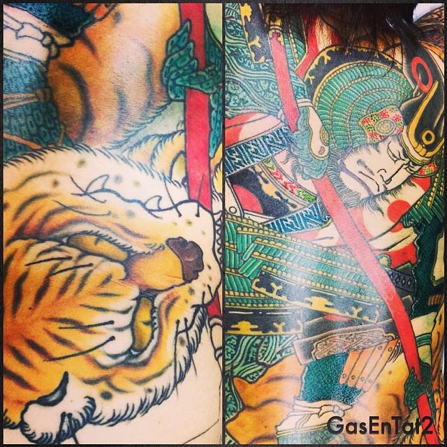 #加藤清正虎退治 #wip #kiyomasa #irezumi  #tattoo  #gasentattoo #gasentat2 - from Instagram