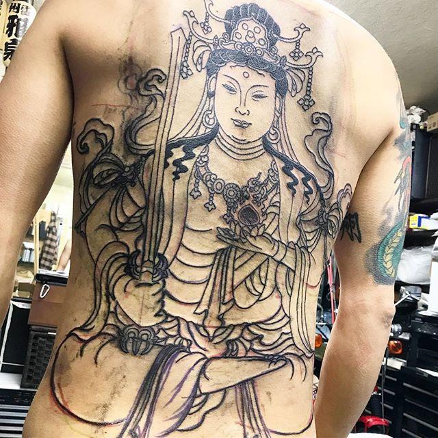#虚空蔵菩薩 #刺青 #タトゥー #tattoo #japanesetattoo #freehand - from Instagram