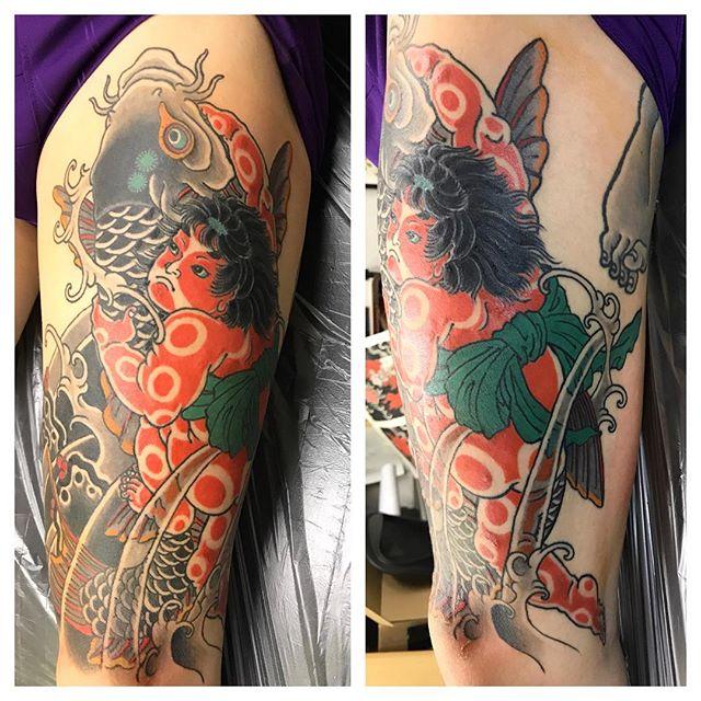 #金太郎 #鯉金 #抱き鯉 #刺青 #タトゥー #japanesetattoo #tattoo - from Instagram