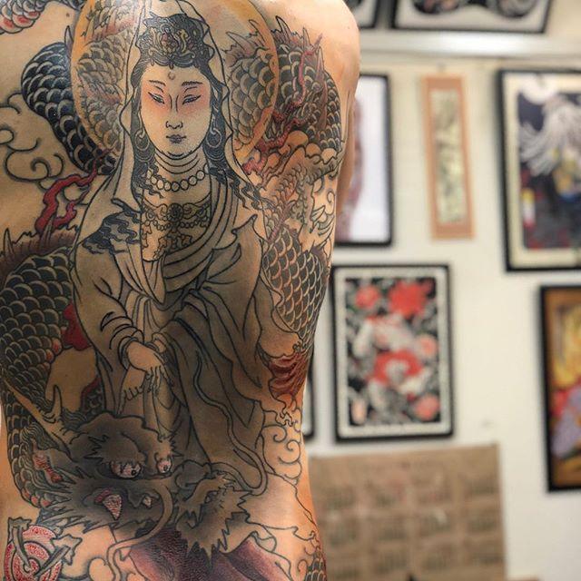 #騎龍観音 #刺青 #タトゥー #tattoo #japanesetattoo - from Instagram