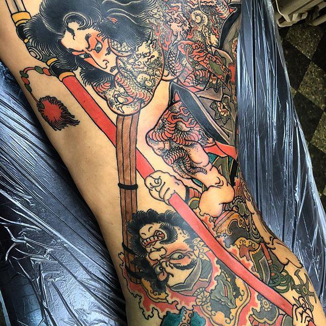 almost done#九紋龍 #史進 #水滸伝 #刺青 #二重彫り #タトゥー #japanesetattoo #tattoo - from Instagram