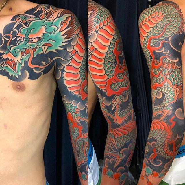 お疲れさま!#龍刺青#刺青 #タトゥー #japanesetattoo #tattoo - from Instagram